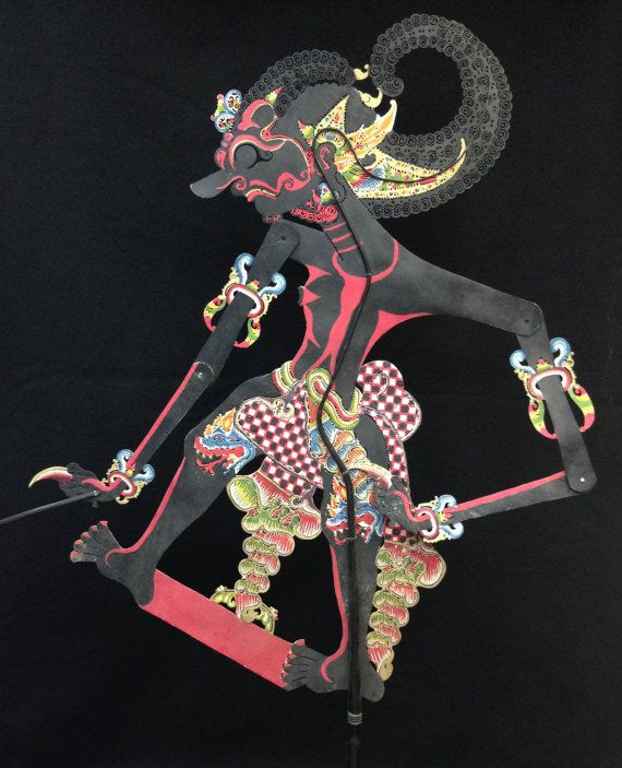 Wayang Kulit Shadow Puppet Bima from Java by EthnicArtandJewelry, $129.95