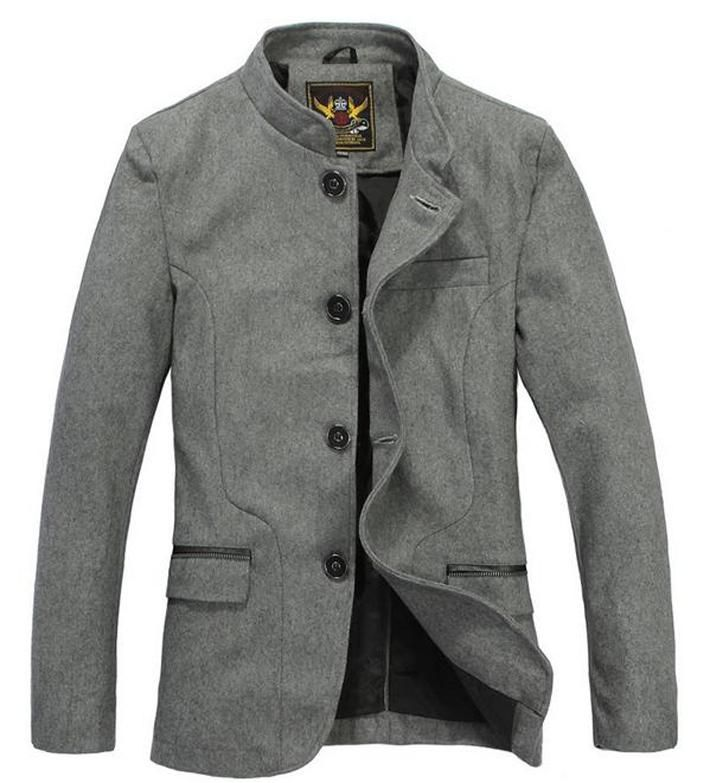 Mens Mandarin Banded Collar Suits Jackets Collarless. If you want a lovely Mandarin collar suit jacket, we can come to your aid. If you want a nice leisure suit jacket with a collar button, we can do the same. Shopping for a Mandarin collar suit for men can actually be a joy here at MensItaly.
