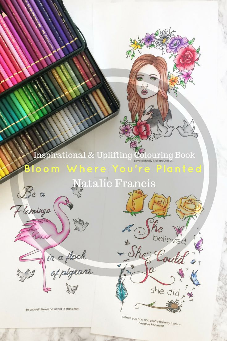 Inspirational Uplifting Colouring Book For Adults Teens And Children