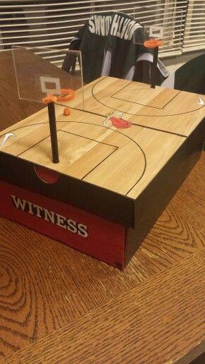 Basketball valentines day box