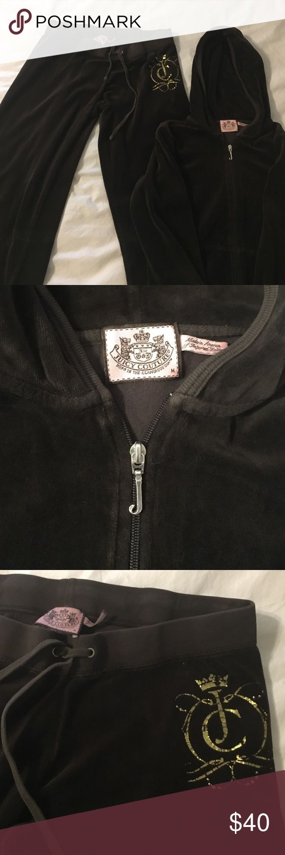 Juicy Couture Velour jumpsuit chocolate brown Juicy Couture chocolate brown velour jumpsuit. Authentic. Juicy Couture Other