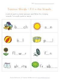 Summer Worksheets Check out our selection of printable summer worksheets for kids. Weve put together a bunch of summer worksheets that are good for kids of different ages. The summer picture matching and counting worksheets are good for preschool age children while the summer word scramble, missing letters and summer cryptogram puzzle are geared toward kids a little older.