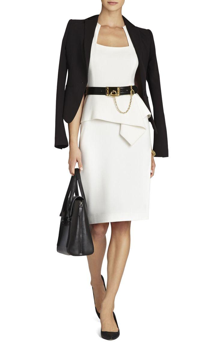 Dress code elegantly casual - Simone Peplum Sheath Dress Bcbg