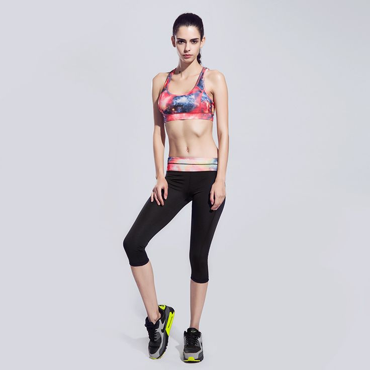 Ceremokiss Brand 2017 women body-building exercise suit solid camisole pant Full Sleeve 2 pieces clothes Elastic tight yoga set