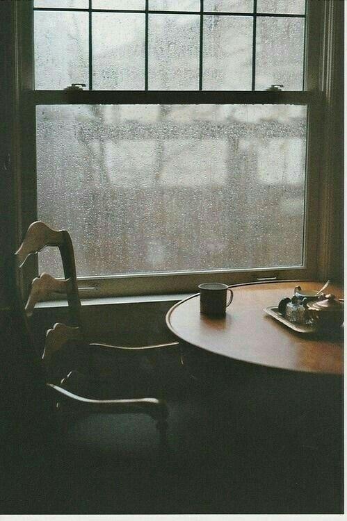 #coffee #window #rain