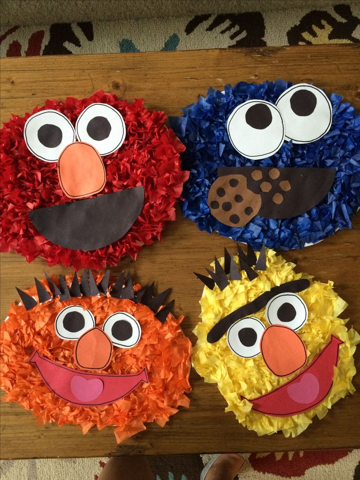 The 25 best grover sesame street ideas on pinterest for Elmo arts and crafts