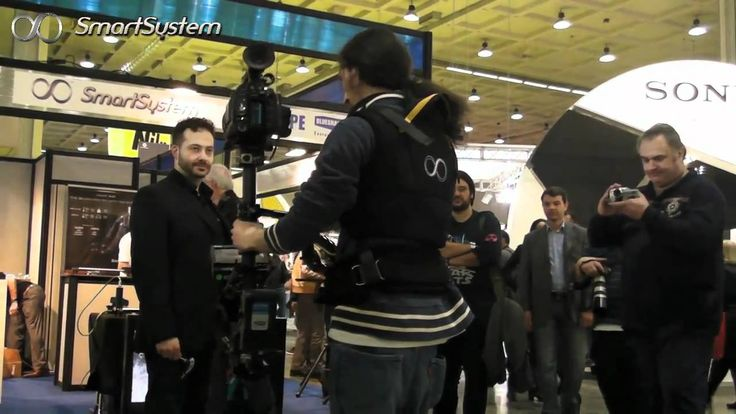 """SmartCAM steadycam system by SmartSystem, composed by Arm X1, Matrix Sled and Vest Lite  tested at Photoshow 2011. Camera used: Sony PMW-F3 35mm, monitor Marshall LCD 7"""" and BlueShape Batteries."""