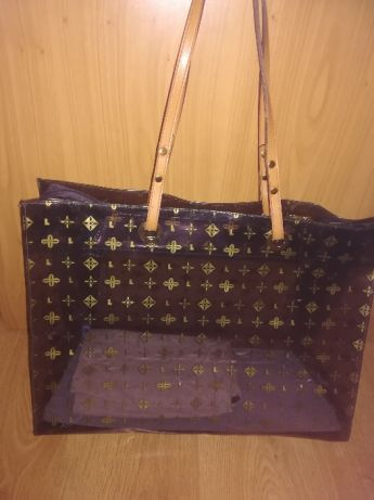 c3242bd8041e2 Torebka zakupowa przezroczysta PCV Koszalin - image 1 | monogram bags | Louis  vuitton, Torebki
