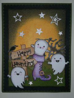 Happy Halloween - Halloween card tutorial, how to