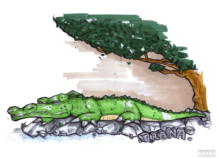 SKETCH 0. (THE CROCODILE)