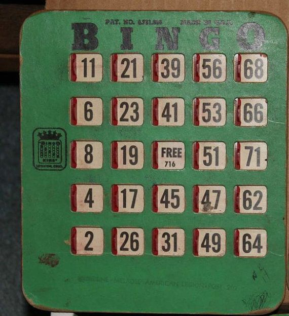 Vintage Bingo King Bingo Cards by JimsAgelessArtifacts on Etsy