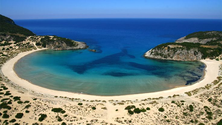Voidokilia Beach in Messinia, Greece