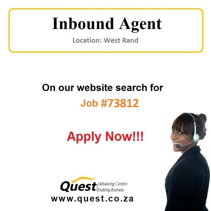 17 best Quest Job Adverts images on Pinterest Career, Carrera - inbound call center agent sample resume