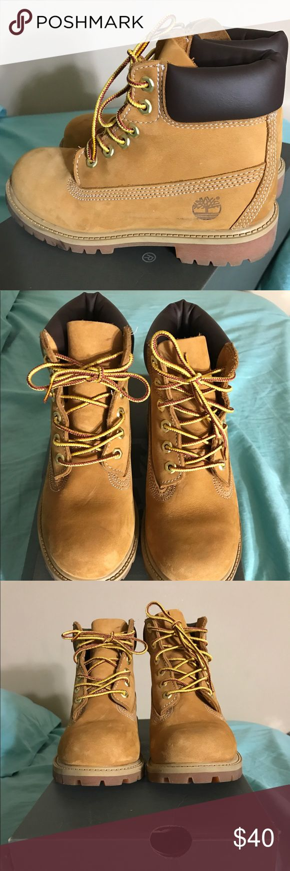 Wheat timberland boots #youth Wheat timberlands worn only 2 times Timberland Shoes Boots