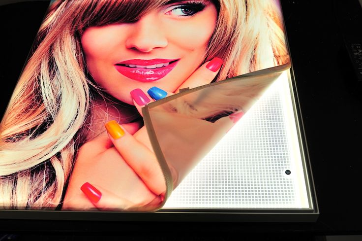 Ultra Thin LED Fabric Display - Turned ON