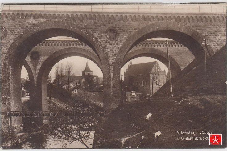 Olsztyn-Allenstein i.Ostpr..Eisebahbrücken