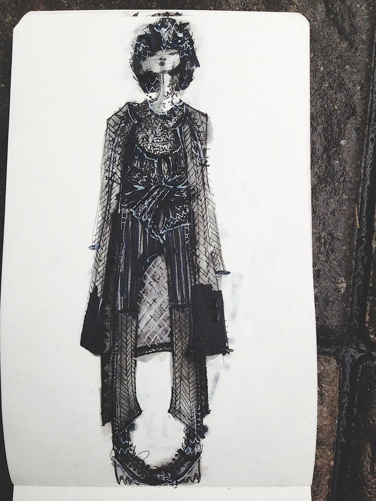 Fashion Sketchbook - knitwear design illustration; fashion portfolio; fashion design sketch // Amanda Henderson