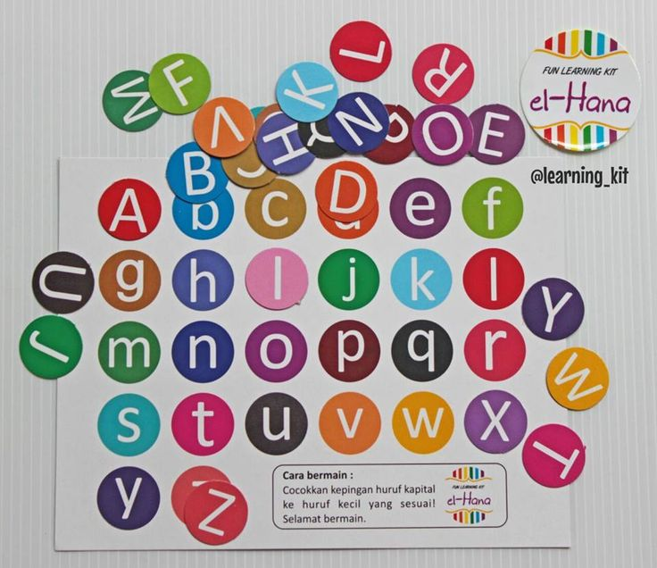 Sorting ABC, match uppercase to lowercase on sorting mat