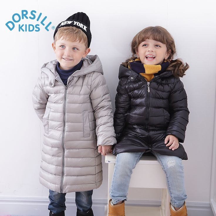 29.60$  Buy now - http://aliz2a.shopchina.info/1/go.php?t=32817437321 - Girl Long Down Jackets Dorsill 2017 New Winter Warm Children Outwear Hooded Fashion Boy Winter Coat Thick Kids Down & Parkas  #buychinaproducts