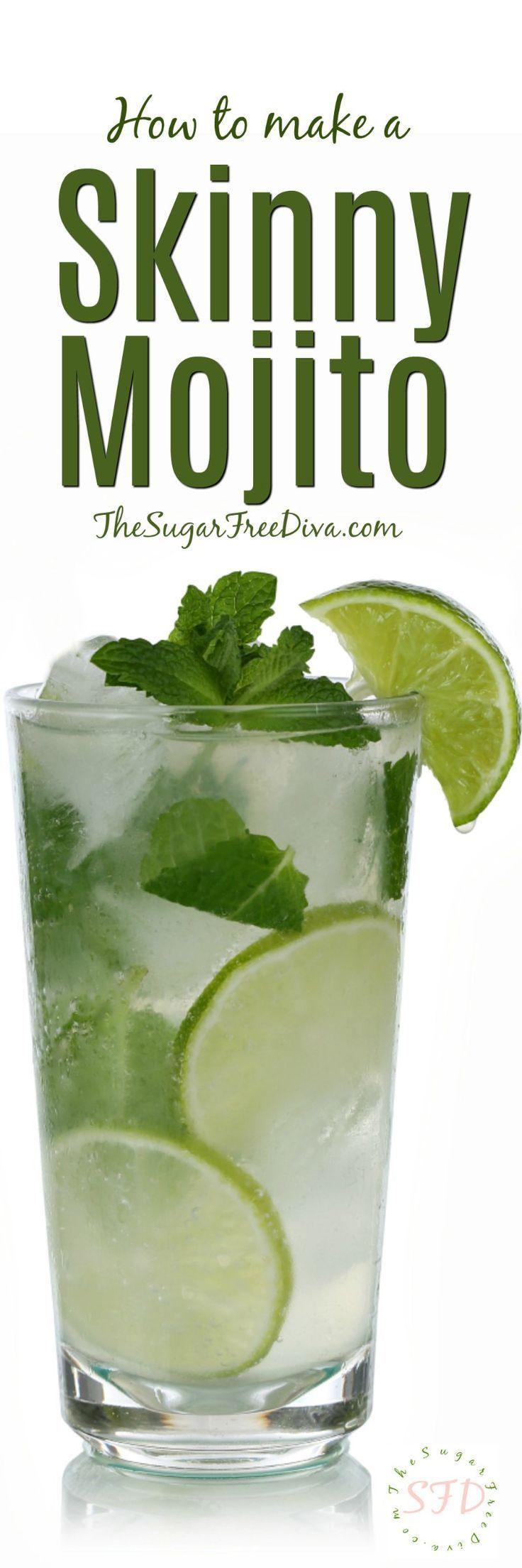How to Make a Skinny Mojito- Sugar Free Recipe!!