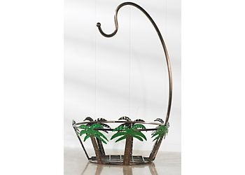 Metal Basket Features A Palm Tree Design With An Armed Hook For Bananas And  Measures X Other Palm Tree Kitchen Accessories ...