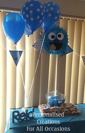 Cookie Monster Birthday Personalised Balloon Weight