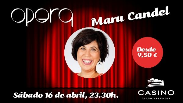 "Maru Candel visita Casino Cirsa Valencia con su monólogo ""Todo pasa por algo, amor"" - http://www.valenciablog.com/maru-candel-visita-casino-cirsa-valencia-con-su-monologo-todo-pasa-por-algo-amor/"