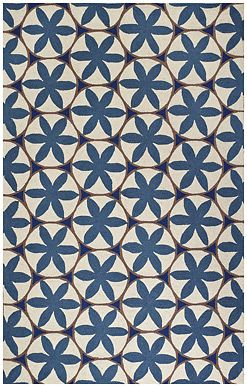 This Hannah style rug in French Blue is a striking design from @WILLIAMSBURG Brand and #CapelRugs