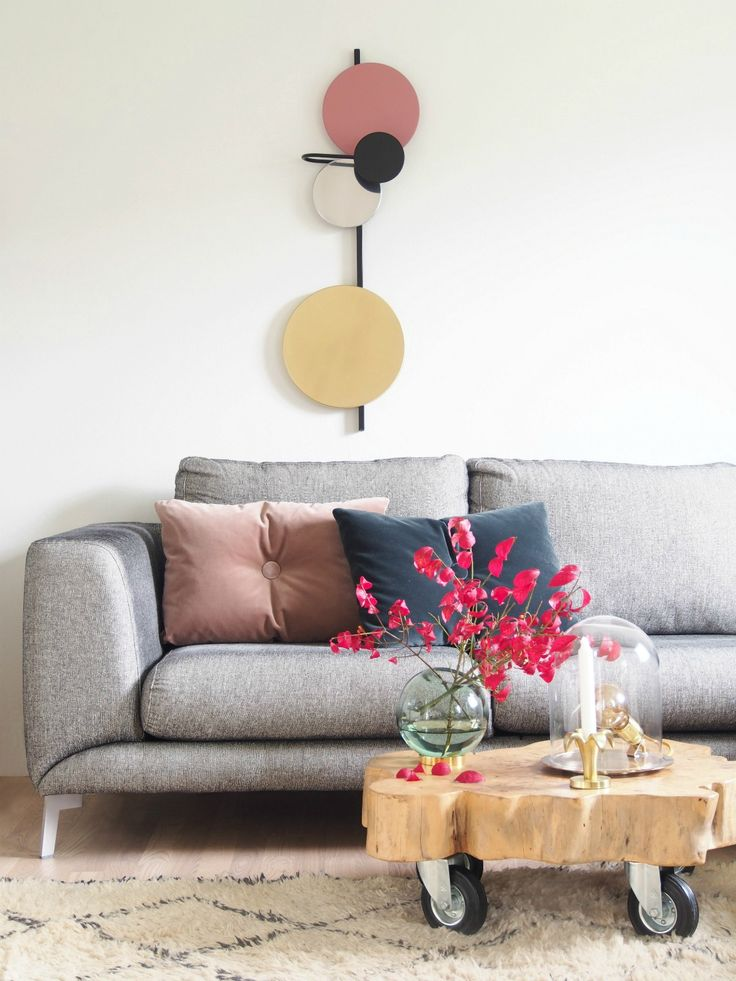 living room poufs%0A DIY Sofa Styling with Style