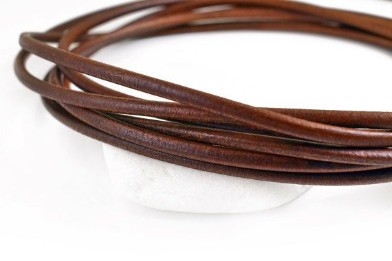 Leather Cord 5mm Brown Greek Leather Cord Necklace Cord