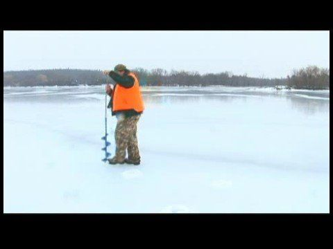 Ice Fishing Tips for Using Augers : Trotline Salmon Fishing