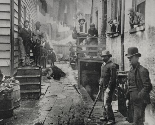 "Riis, Jacob A.: 'Bandits' Roost, ""59 1-2 Mulberry Street Feb.12, 1888"