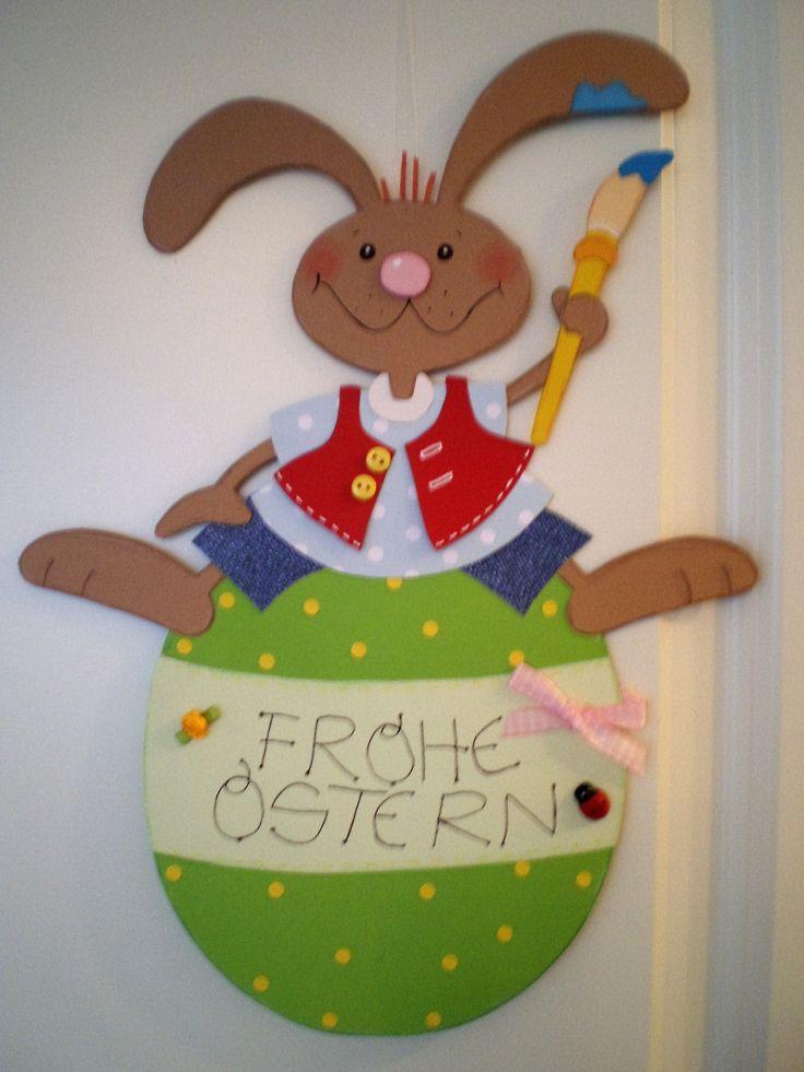 Superb Fensterbild Hase Frohe Ostern Ostern K che Dekoration Tonkarton FOR SALE