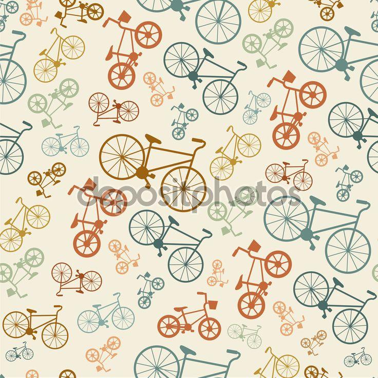 Bunte Fahrrad Hipster Hintergrund — Stockillustration #59423559