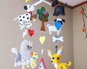 Long Pug baby mobile - puppy mobile - chihuahua nursery mobile - Scotty dog decorate mobile - dalmatian Neutral mobile - weenie dog mobile