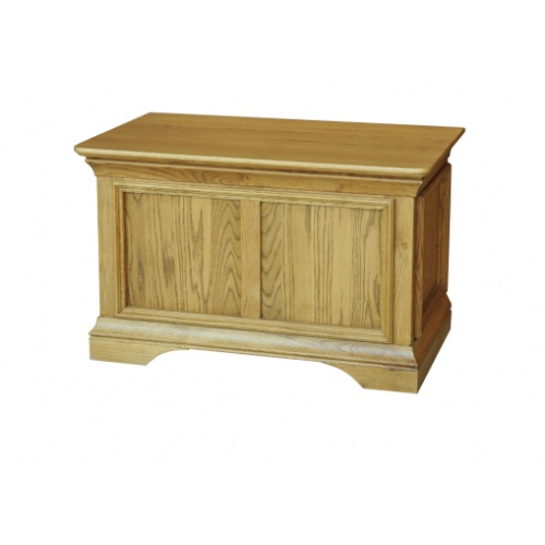 Solid Oak - FRBB1 Lyon Oak Blanket box www.easyfurn.co.uk