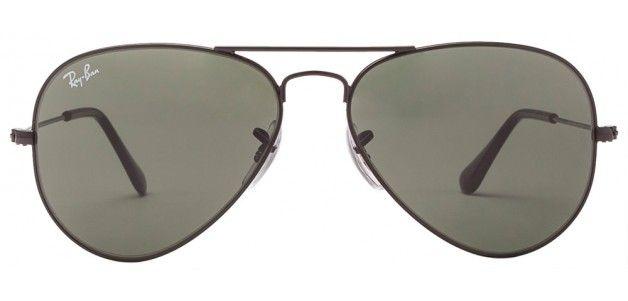 Ray-Ban RB3025 0025 Size:55 Black Grey Aviator Sunglasses