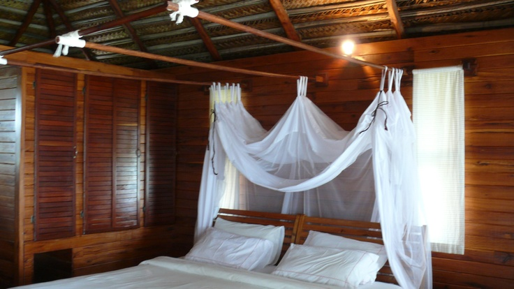 Dreams are made of this: whispering white netting, the soft breeze sending gentle waves around each chalet......