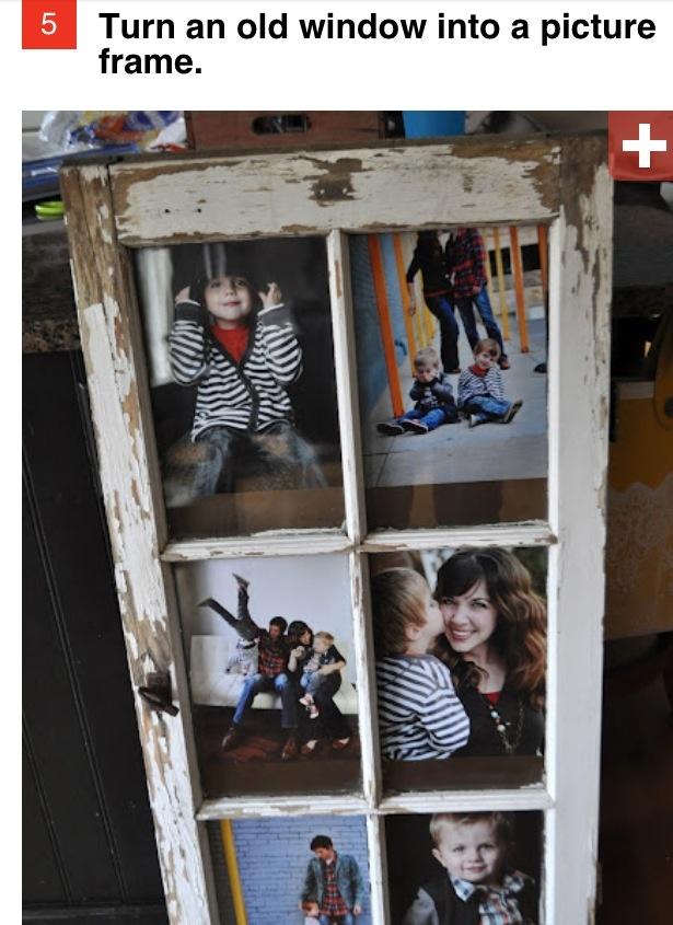 Easy pic Frame out of and old window frame!