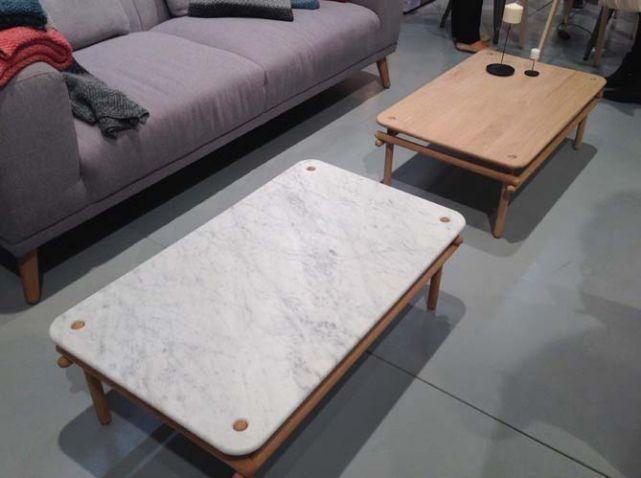 Tables basse design marbre et bois eno studio salon for Entree gratuite salon maison et objet