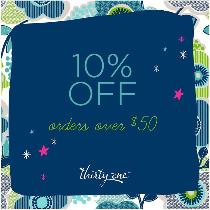 Get 10% off your Thirty-One purchase of $50 or more when you order through my Spring Catalog Launch Party, now through January 10, 2015. Place the order and then I'll credit you back the 10% when I close the party! #31 #thirty-one http://www.mythirtyone.com/jennifermos