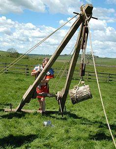 a crane using Roman technology