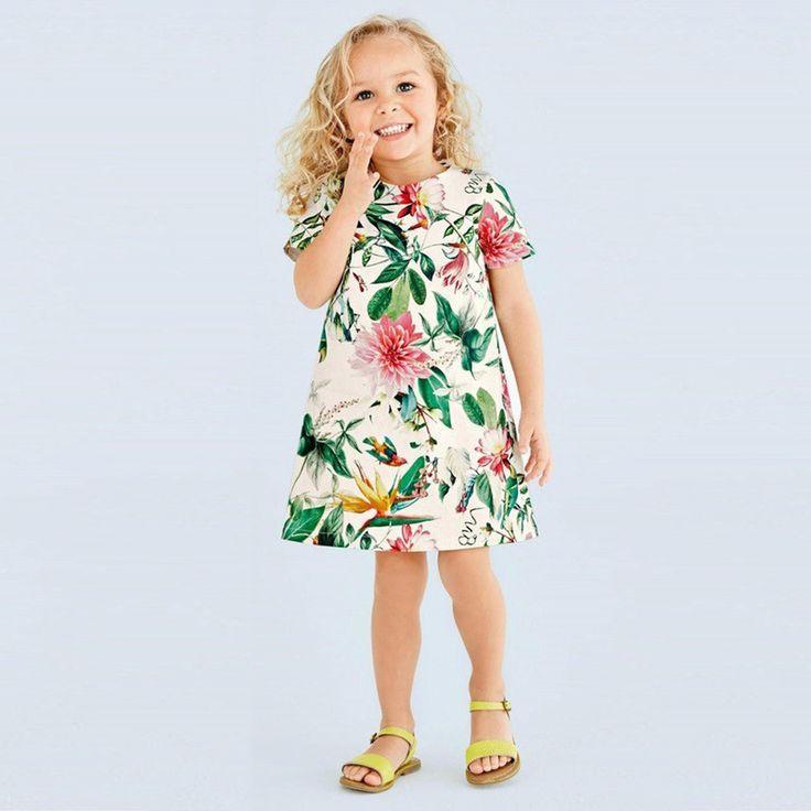 Aliexpress.com: Koop 2016 Nieuwe Mode Baby Meisjes Lente Jurken Kinderkleding Bloemen Patroon Katoen Jurk Baby Meisjes Korte Mouwen Jurk van betrouwbare jilbab jurk leveranciers op Fashion Kids trends