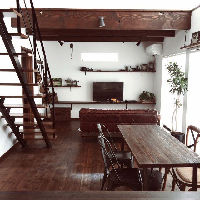 KOMAさんの、ソングオブジャマイカ,レザーソファー,ジャーナルスタンダードファニチャー,journal standard Furniture,インダストリアル,のお部屋写真