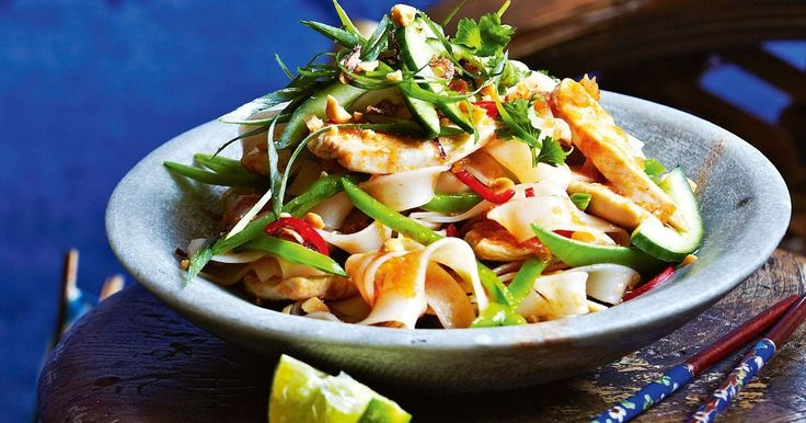 Use a hot wok to stir-fry these slippery rice noodles with a fragrant paste.