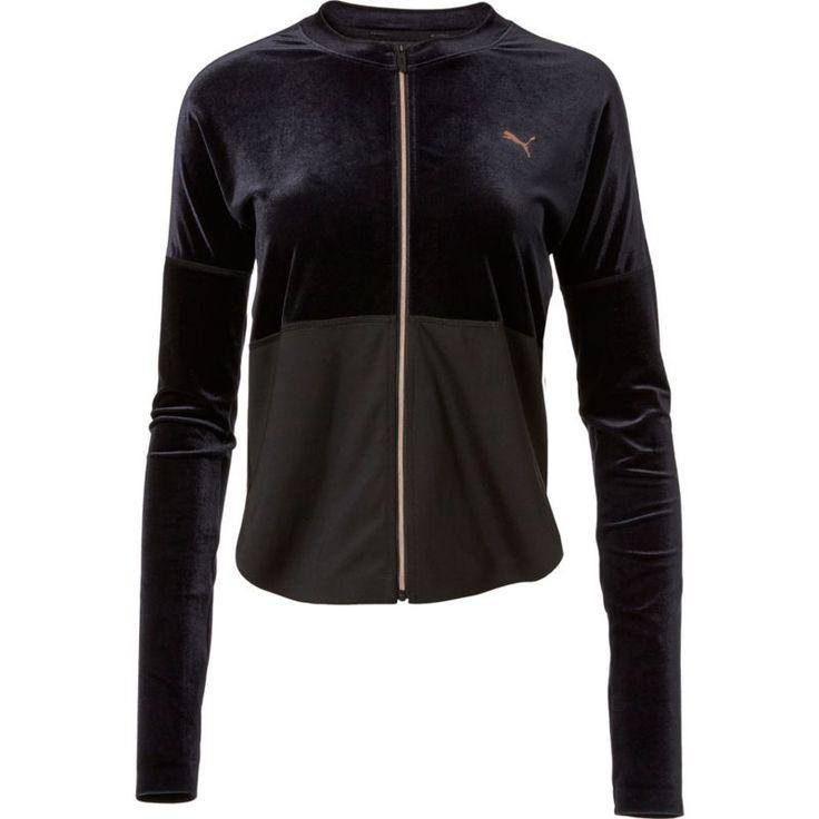 Puma Women's Statement Velvet Jacket, Size: Medium, Black