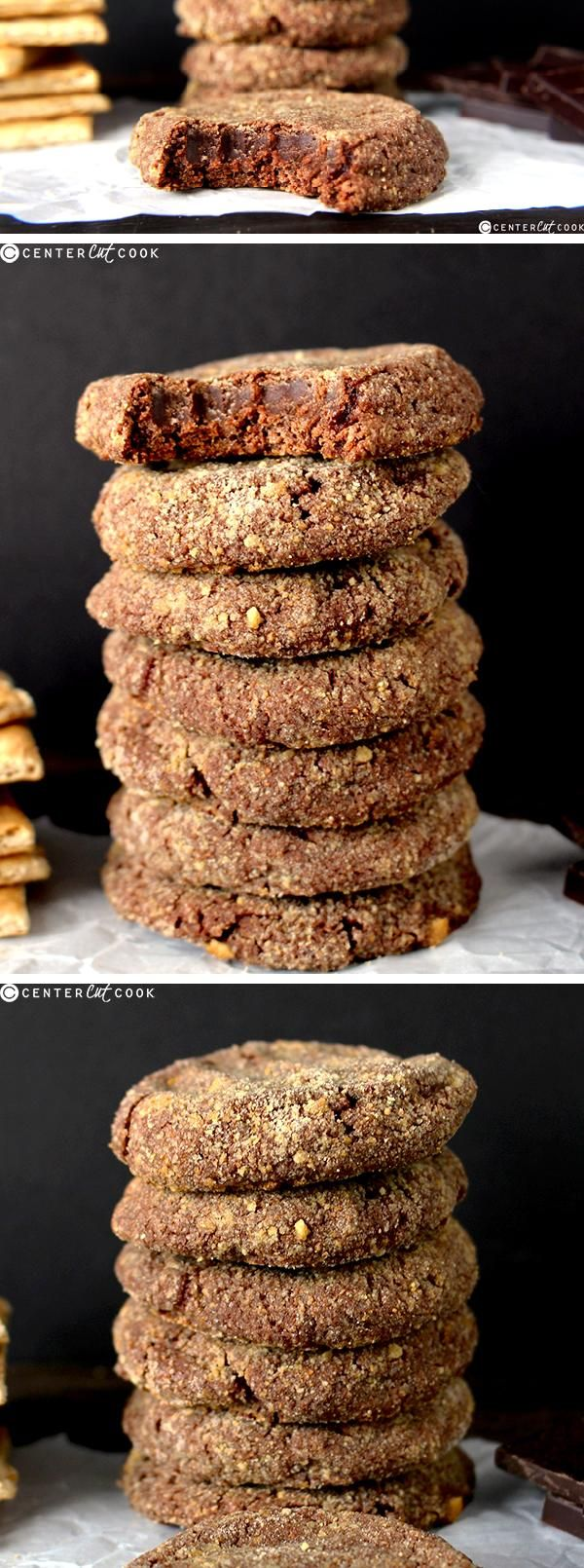 These CHOCOLATE CHEESECAKE COOKIES are creamy on the inside, have a slight…