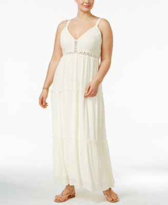 American Rag Trendy Plus Size Tiered Maxi Dress, Only at Macy's