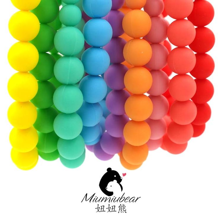 Baby Silicone Teething Necklace - Fully Bead Rainbow Necklace  - Chew Necklace - Chewable Necklace - Baby wearing #>=#>=#>=#>=#> Click on the pin to check out discount price, color, size, shipping, etc. Save and like it!