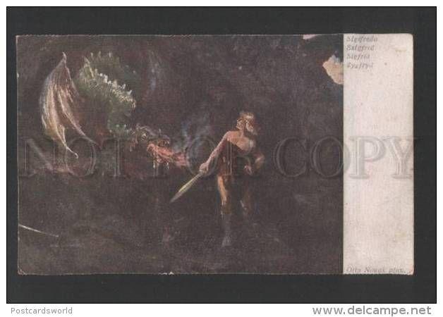 119283 WAGNER Opera SIEGFRIED & DRAGON By NOWAK Vintage PC - Illustrators & Photographers